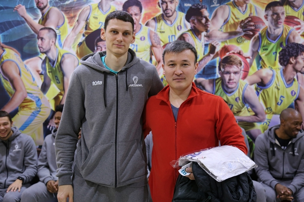 New Year's meeting of PBC «Astana» with fans