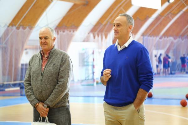 Enrique Villalobus and Manolo Rubio visited the Children's Academy of Basketball «Astana»