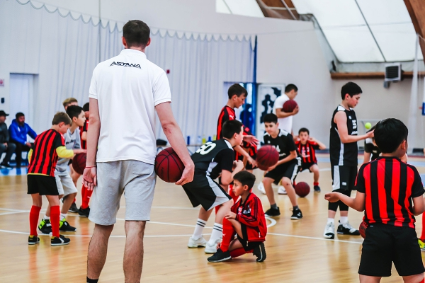 Master class of «Astana» Children's Basketball Academy for children from orphanages